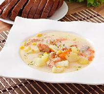 Fińska zupa jarzynowa z krewetkami lub rakami - sprawdzony przepis