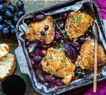 Kurczak z ryżem i winogronami