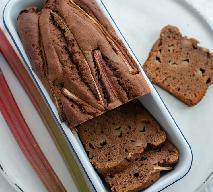 Czekoladowe ciasto z rabarbarem - idealny wiosenny podwieczorek