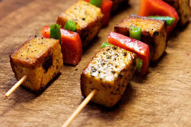Smażone szaszłyki sojowe - świetne danie nie tylko dla wegetarian